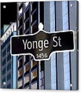 Yonge Street Acrylic Print