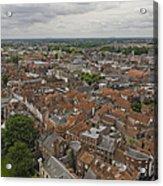 York From York Minster Tower II Acrylic Print