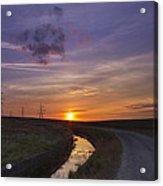Yorkshire Sunset  Acrylic Print