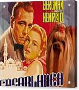 Yorkshire Terrier Art Canvas Print - Casablanca Movie Poster Acrylic Print