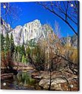 Yosemite Falls Along The Merced River Acrylic Print