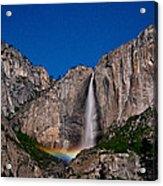 Yosemite Falls Moonbow Acrylic Print
