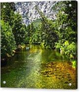 Yosemite Merced River Rafting Acrylic Print