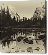 Yosemite National Park Valley View Antique Print   Acrylic Print by Scott McGuire