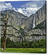 Yosemite Upper And Lower Falls Acrylic Print