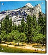 Yosemite Valley Along Yosemite River Beach Acrylic Print