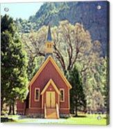 Yosemite Valley Chapel Lomo Acrylic Print