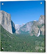 Yosemite Valley Acrylic Print by David Davis