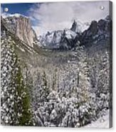Yosemite Valley In Winter Acrylic Print