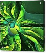 You Are Here --  Events Conspire -- Green Acrylic Print