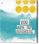 You Are My Sunshine- Abstract Mod Art Acrylic Print