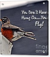 You Can Fly Acrylic Print