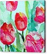 You Enlighten Me- Painting Of Tulips Acrylic Print