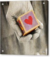 You Hold My Heart In Your Hand Acrylic Print