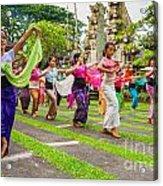 Young Bali Dancers - Indonesia Acrylic Print