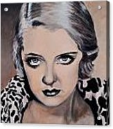 Young Bette Davis Acrylic Print by Shirl Theis