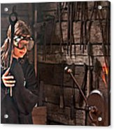 Young Blacksmith Girl Art Prints Acrylic Print