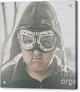 Young Boy Pilot. Battle Ready Acrylic Print