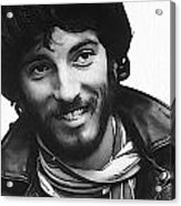 Young Bruce Springsteen Acrylic Print