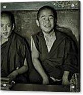 Young Buddhist Monks Acrylic Print
