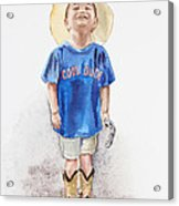 Young Cowboy  Acrylic Print
