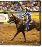 Young Cowgirl Acrylic Print