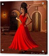 Young Flamenco Dancer Acrylic Print