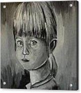 Young Girl Crying Acrylic Print