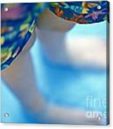 Young Girl Standing In Pool Acrylic Print