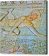 Young God-figure On Wall In Angkor Wat In Angkor Wat Archeological Park Near Siem Reap-cambodia Acrylic Print