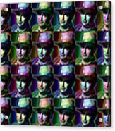 Young John Wayne Pop Repeat Acrylic Print