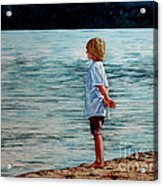 Young Lad By The Shore Acrylic Print