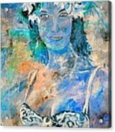 young lady in Papeete Acrylic Print
