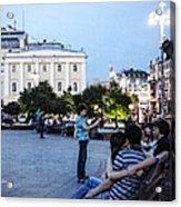Young Lovers And Other Strangers - Moscow- Russia Acrylic Print