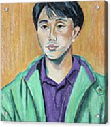 Young Man In A Green Jacket Acrylic Print
