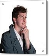 Young Man In Trench Coat Acrylic Print