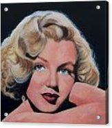 Young Marilyn Acrylic Print by Shirl Theis