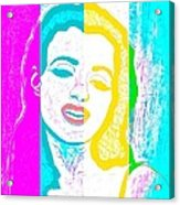 Young Marilyn Soft Pastels Impression Acrylic Print
