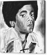 Young Michael Jackson Acrylic Print by Kenal Louis