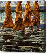 Young Monks Acrylic Print by Rob Tullis