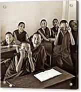 Young Monks Acrylic Print