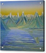 Young Mountains In Lofoten. Acrylic Print