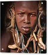 Young Mursi Boy Acrylic Print