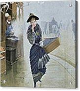 Young Parisian Hatmaker Acrylic Print by Jean Beraud
