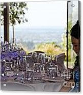 Young Party Girl Waiting For Guests Acrylic Print