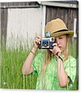 Young Photographer Acrylic Print