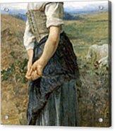 Young Shepherdess Acrylic Print