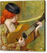 Young Spanish Woman With A Guitar Acrylic Print by Pierre Auguste Renoir