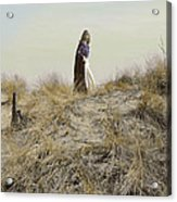 Young Woman In Cloak On A Hill Acrylic Print
