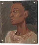Young Woman With An Afro Acrylic Print